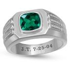 1/10 Ct. tw Diamond Color Stone Mens Ring