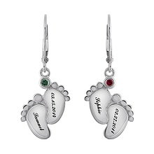 Color Stone Mothers Drop Earrings