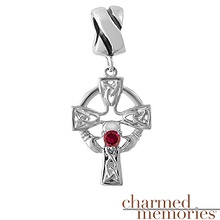 Charmed Memories Colored Stone Charm Sterling Silver