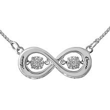 Diamonds in Rhythm Couples Heart Necklace 1/20 Ct. tw Diamond